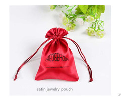 Satin Jewelry Pouch With Pp Drawstring Rope