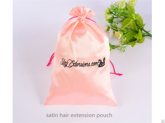 Satin Hair Extension Bag