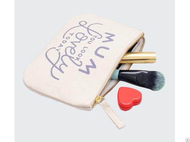 Canvas Cosmetics Clutch Bag Cotton Makeup Tools Zipper Pouch