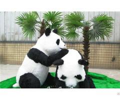 Life Size Realistic Animatronic Panda Model For Park