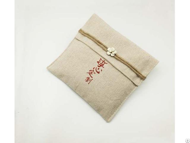 Vintage Burlap Tea Towel Package Pouch