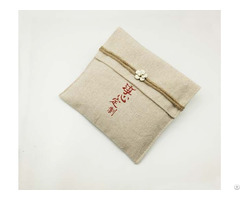 Vintage Burlap Tea Towel Package Pouch