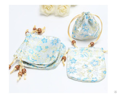 Chinese Style Jacquard Satin Jewelry Bag