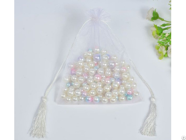 White Organza Wedding Favors Bag