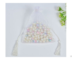 White Organza Wedding Favors Bag
