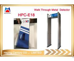 Walk Through Metal Detector With High Sensitivity Security Check