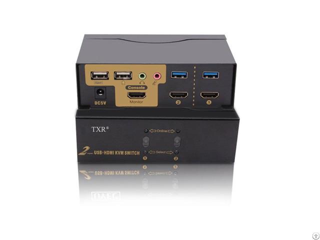 Txr 4k 2port Automatic Usb Hd Mi Kvm Switch Box