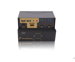 Txr 4k 2port Automatic Usb Hd Mi Kvm Switch Box