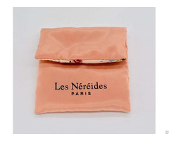 Double Satin Envelope Jewelry Bag With Button Closure