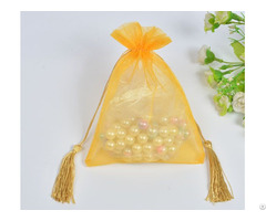Golden Organza Wedding Favors Gift Bag