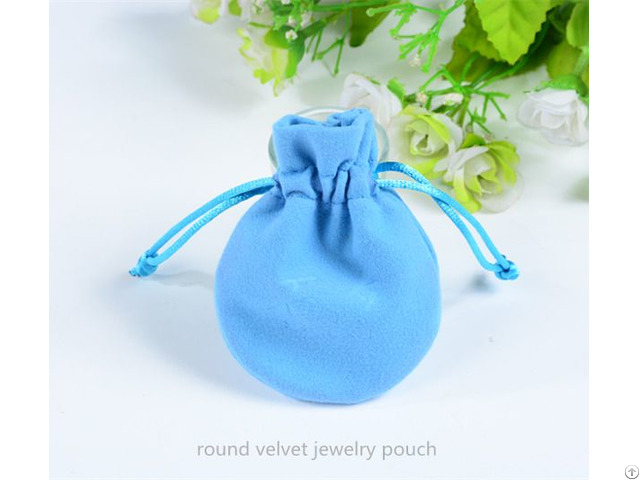 Round Velvet Jewelry Pouch