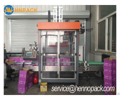 Servo Type Case Packing Machine For Glass Drink Bottle Carton Packer