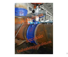 Motorized Welding Type Wcb Metal Seated Butterfly Valve For Heating Power Industry