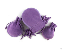 Purple Gourds Velvet Jewelry Pouch