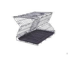 Folding Mesh Steel Wire Dog Crate Elegant Pet Home