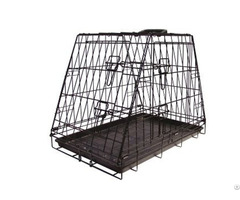 One Sloping Unique Folding Trapezoid Transport Box Dog Cages