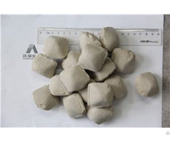 High Caf2 70 95% Low Silicion Fluorspar Briquette Ball For Steel Making