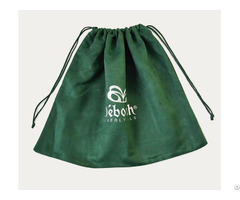 Emerald Suede Drawstring Dust Bag For Shoes Handbag