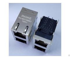 Ykj 802109ndj=xfatm9 Stkvdgy2 4 2 Port 100 Base T Rj45 Magnetic Modular Jacks