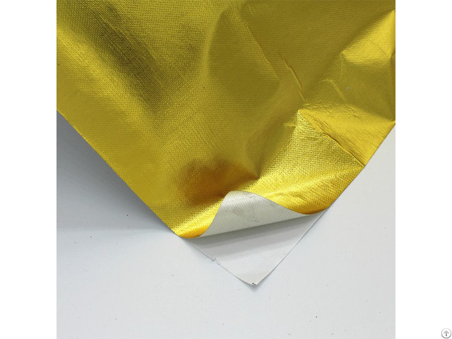 Fire Resistant Adhesive Gold Reflective Film For Heatshield Barrier