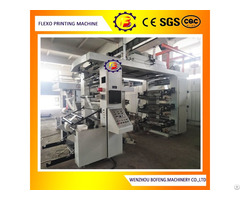 Six Color Stack Type Paper And Plastic Film Flexo Printing Machine