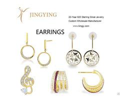 Sterling Silver Earrings Fine Jewelry Wholesale Manufacturer