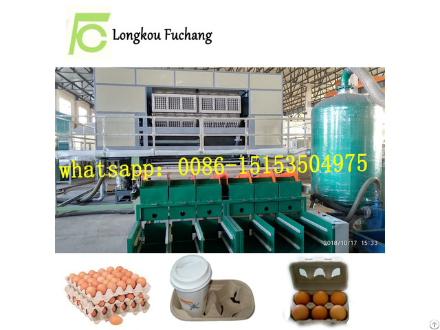 Waste Paper Pulp Egg Dishes Making Machine