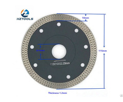 High End Quality Hot Pressed 4 1 2inch 115mm Ultra Thin Turbo Mesh Tile Diamond Saw Blade