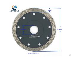 High End Quality Hot Pressed 4 1 2inch 115mm Ultra Thin Turbo Mesh Tile Diamond Saw Blade