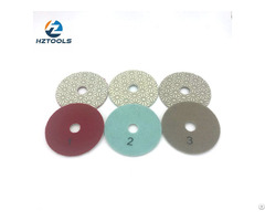 Flexible 3 Step Diamond Polishing Pad For Granite Marble And Concrete Stone