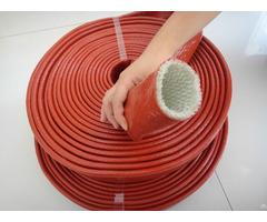 Silicone Coated Fiberglass Braided Fire Retardant Sleeves