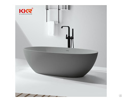 Solid Surface Bathtub Kkr B008 Common White Or Some Pure Colors Black Chips Color
