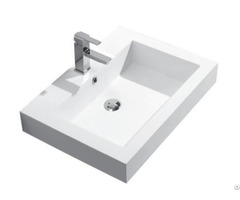 Hot Sales Small Size Acrylic Solid Surface Resin Stone Wall Mounted Wash Basin With Towel Hanger