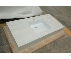 Unique Design Modern Wall Hung Solid Surface Stone White Washbasin For Bathroom