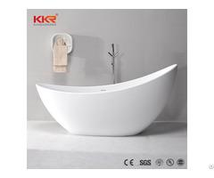 Modern White Bathroom Solid Surface Bathtub