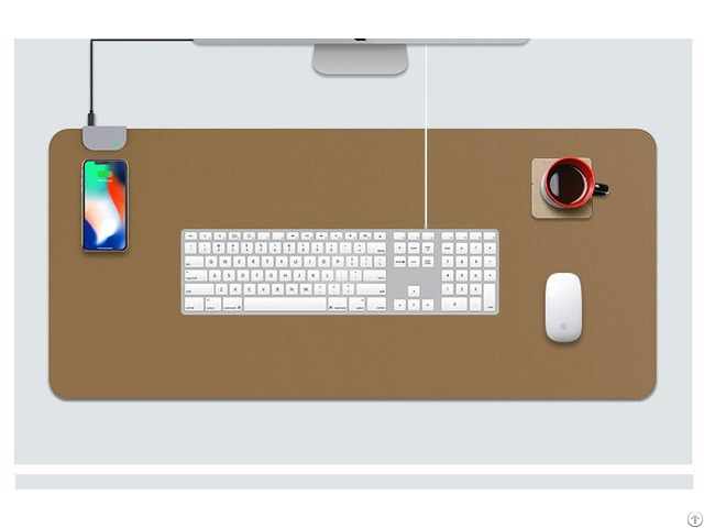 10w Fast Wireless Charging Pad Desktop Mat Mouse