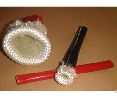 Silicone Coated Fiberglass High Temperature Braided Sleeving For Hose Cable Wire Protection