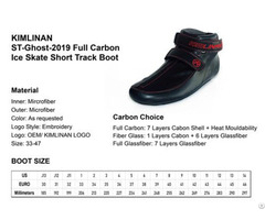 High Quality Kimlinan St Ghost 2019 Full Carbon Ice Skate Short Track Boot