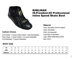 New Professional Kimlinan Is Freedom 02 Inline Speed Skate Boot