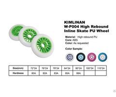 China Kimlinan W P004 High Rebound Inline Skate Pu Wheel