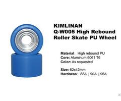 Professional Hot Sale Kimlinan Q W005 High Rebound Roller Skate Pu Wheel Wholesale