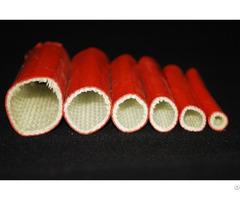 High Temperature Fire Retardant Silicone Fiberglass Hose Sleeve For Thermal Insulation