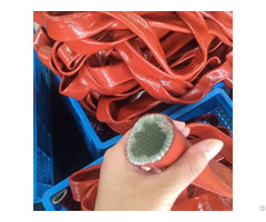Silicone Rubber Coated Fiberglass Firesleeve For High Temp Hose And Cable Protection
