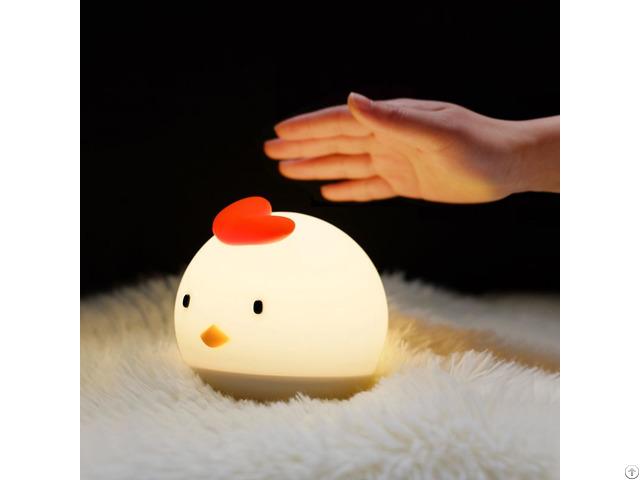 Kids Cute Chick Night Light Beside Lamp Usb Charge