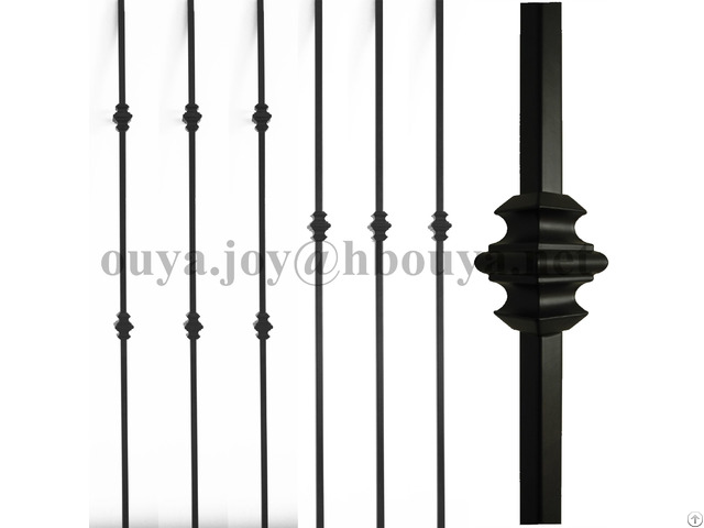 Powder Coated Indoor Stair Iron Balusters