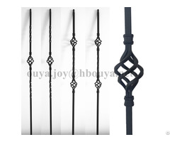Hollow Tube Indoor Decorative Wrought Iron Basket Balusters