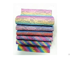 Bh5170 Colorful Rainbow Emboss Glitter Fabric