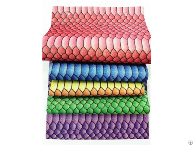 Bh5171 Bright Snake Printing Glitter Fabric