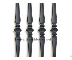 Black Hollow Iron Spoon Balusters
