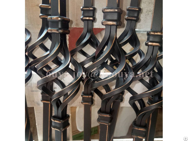 Oil Rubbed Copper Iron Basket Stair Spindles